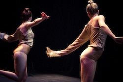 "Julie Grant and Brittany Duggan in Duggan's ""Mayfly: MayDAY"" - photo by Andréa de Keijzer"